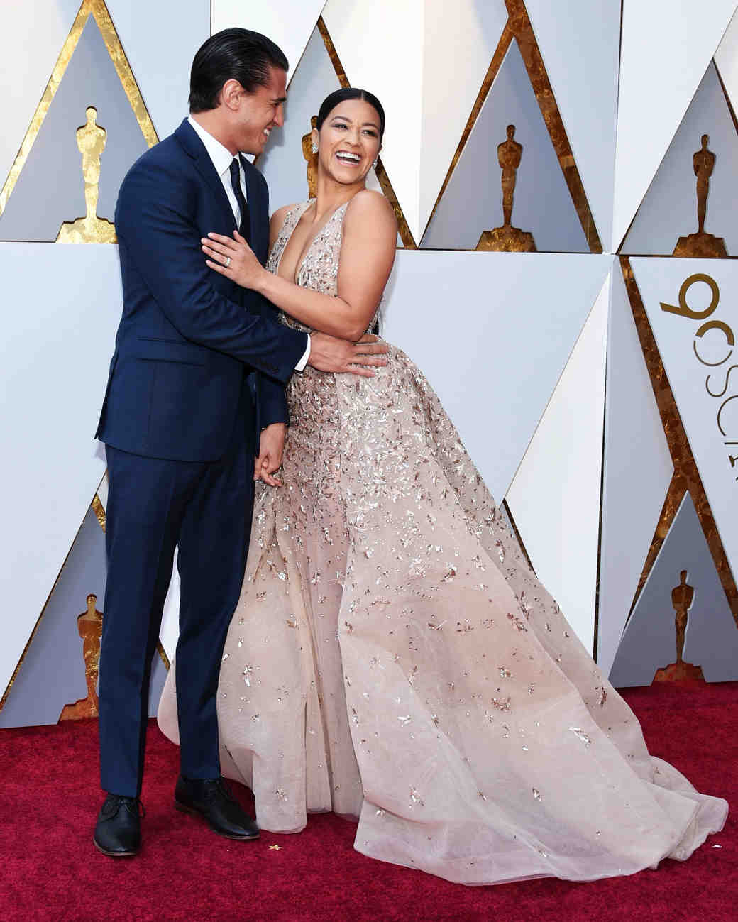 Gina Rodriguez and Joe Locicero 2018 Oscars