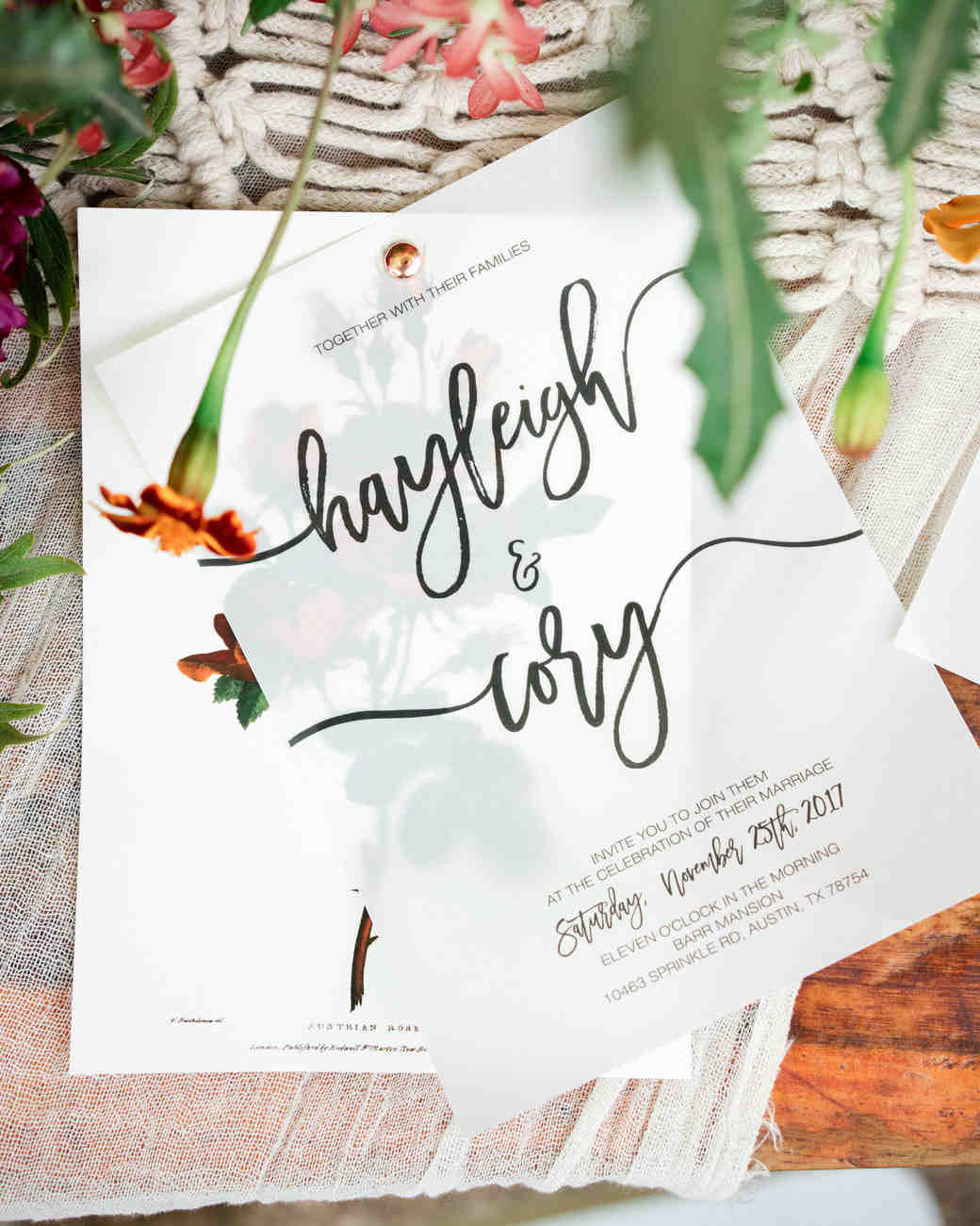 hayleigh corey wedding invitations