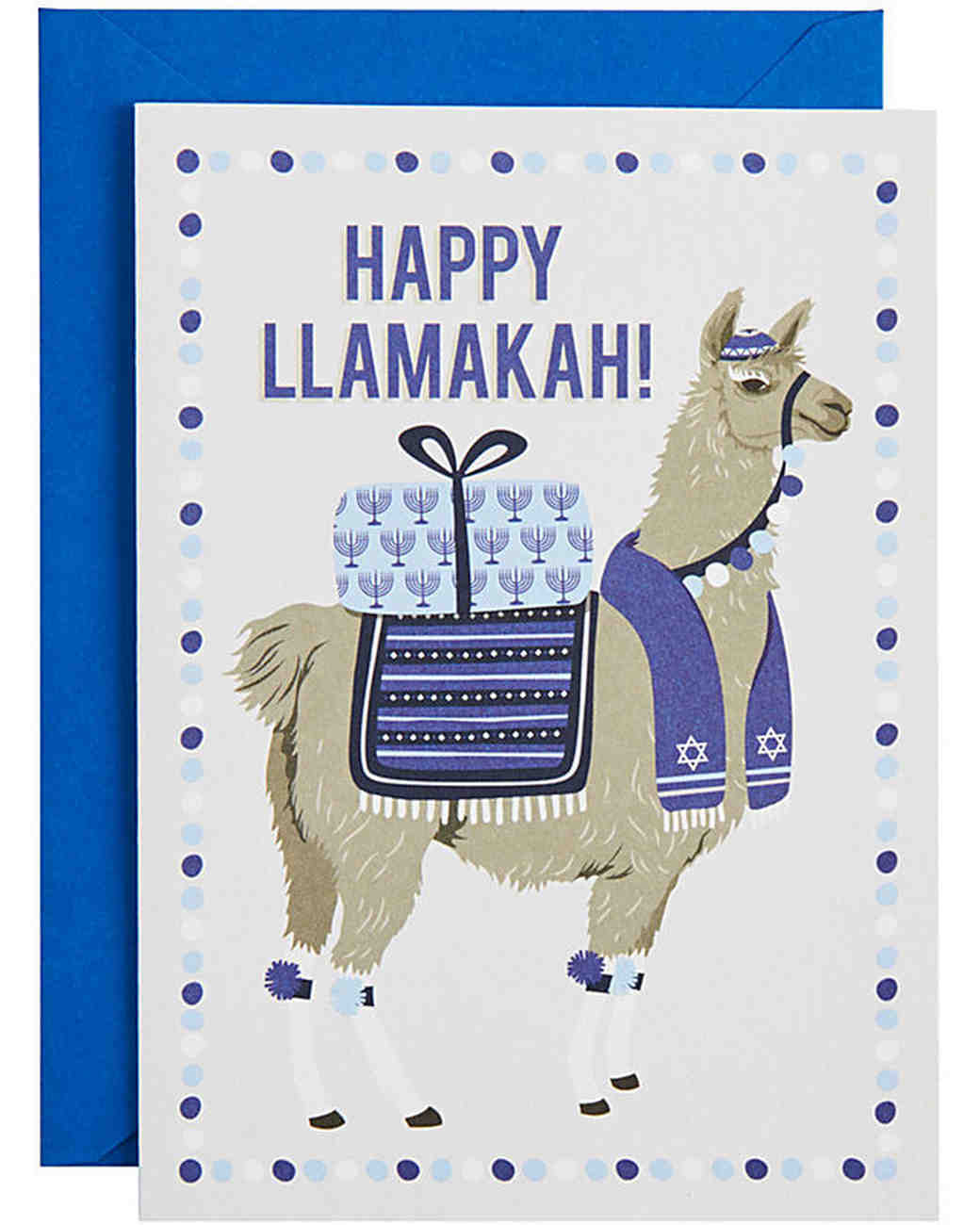 holiday card paper sorce happy llamakah