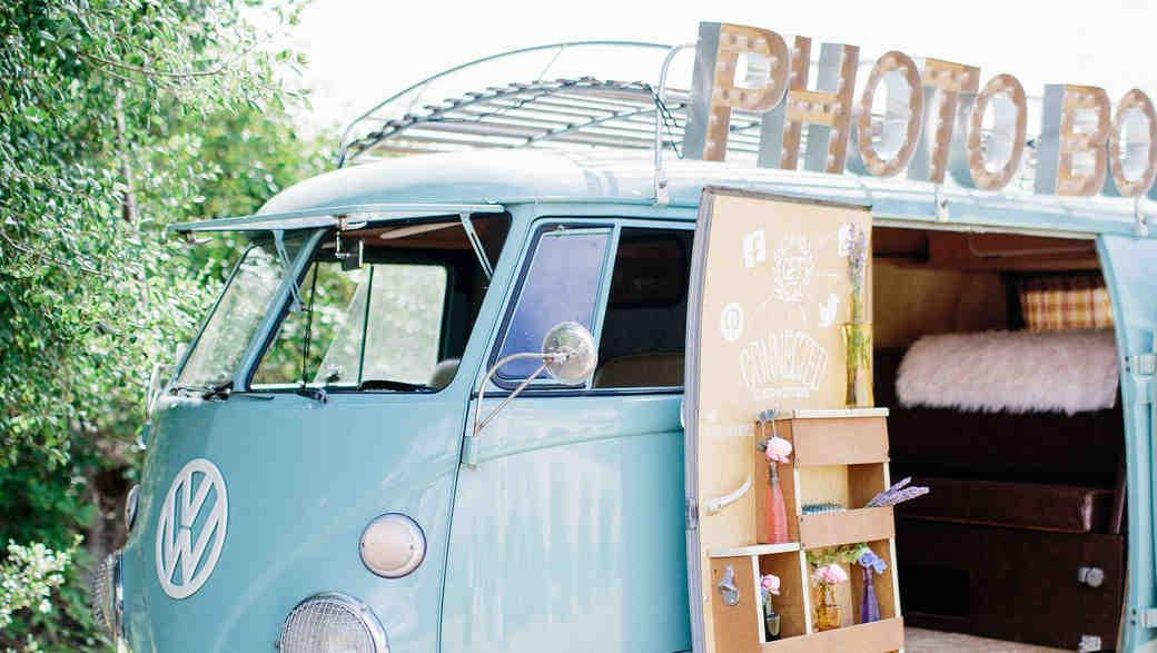Blue Retro Photo Booth Van