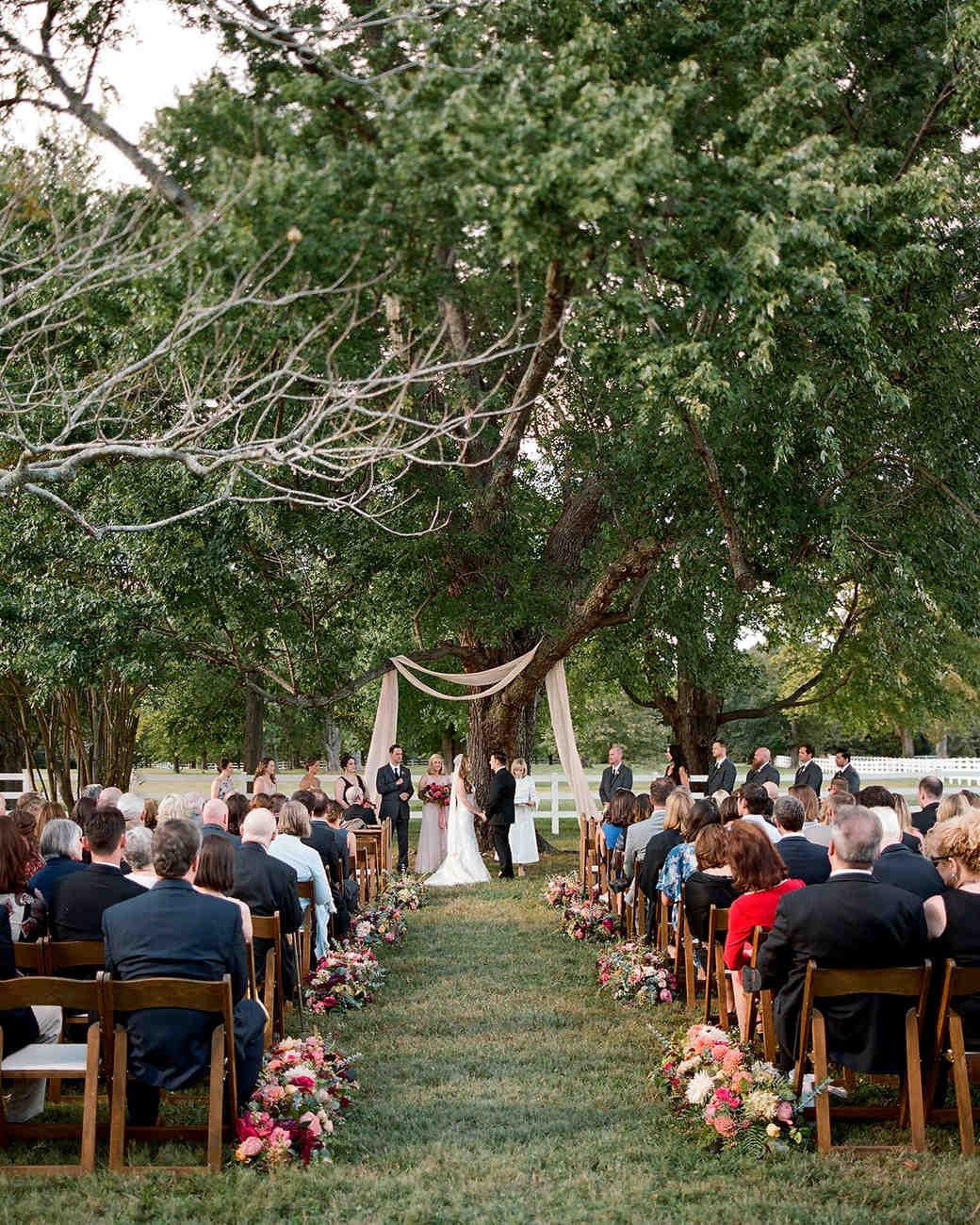jen geoff wedding outdoor ceremony
