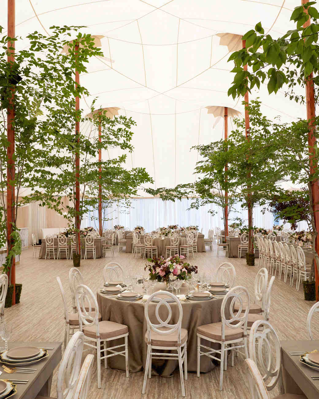 Wedding Reception Tent Trees