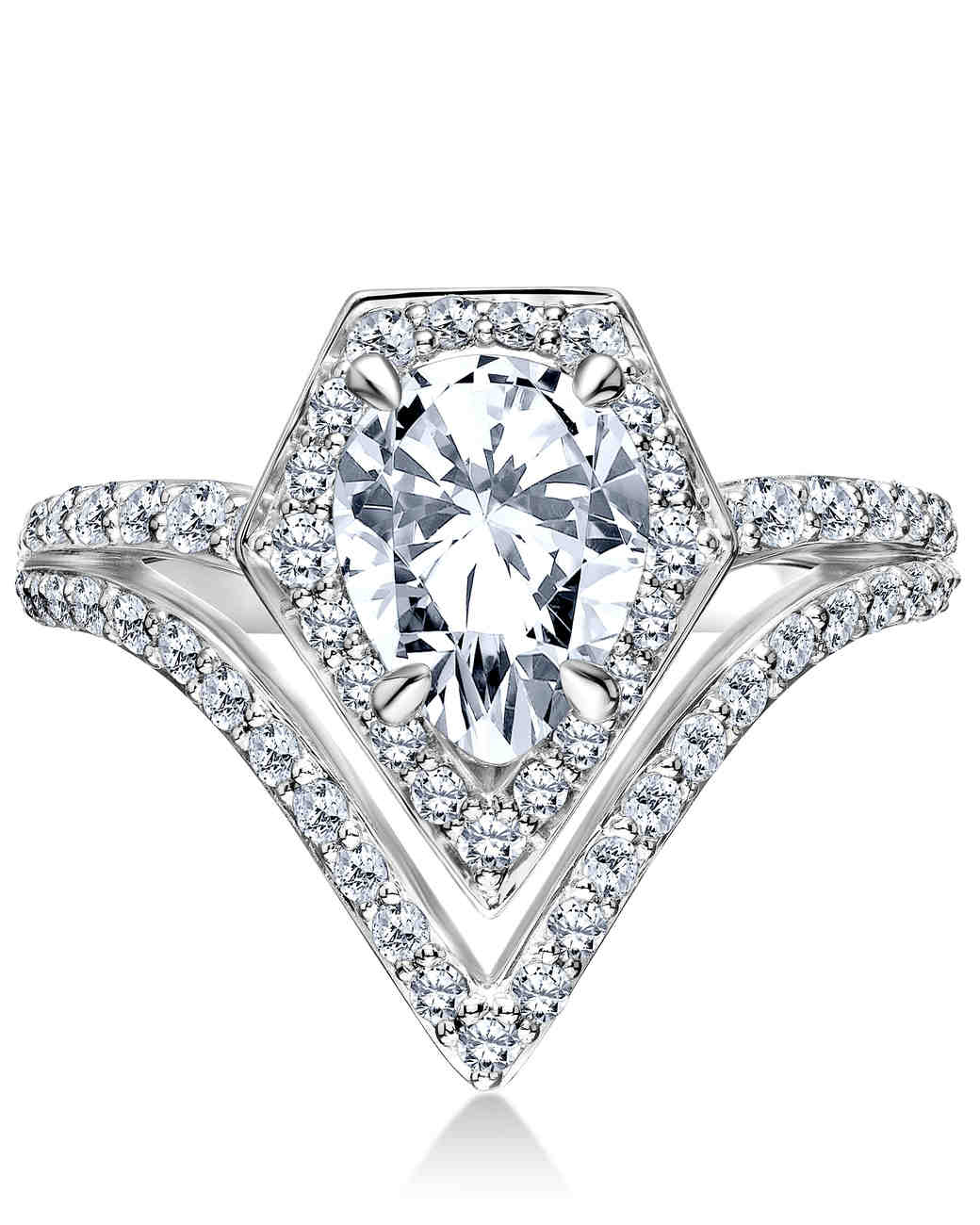 Karl Lagerfeld Pear-Cut Engagement Ring
