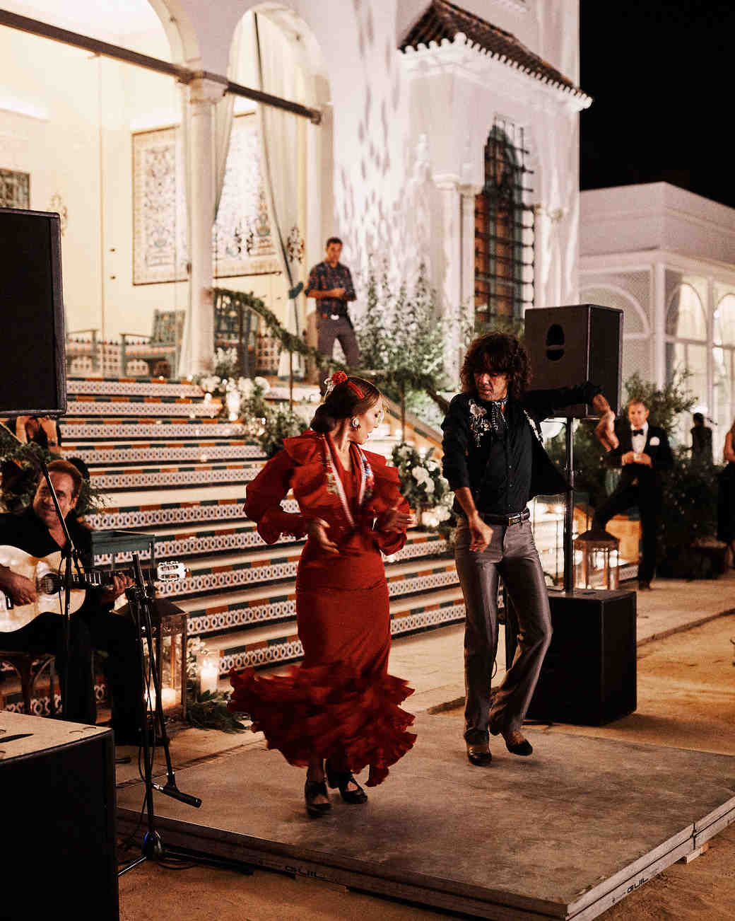 karolina sorab wedding flamenco dancers reception