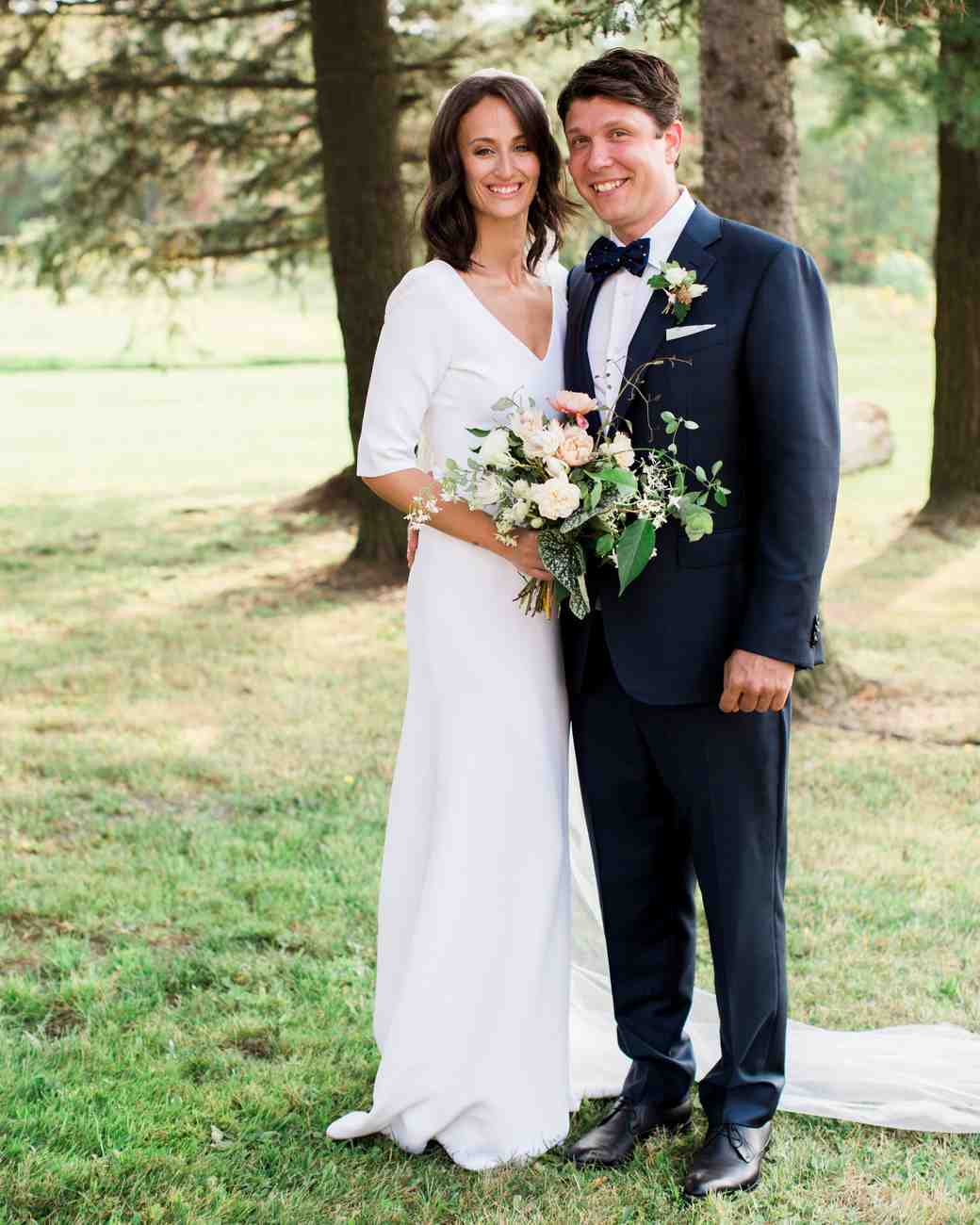 kayla michael wedding couple smile