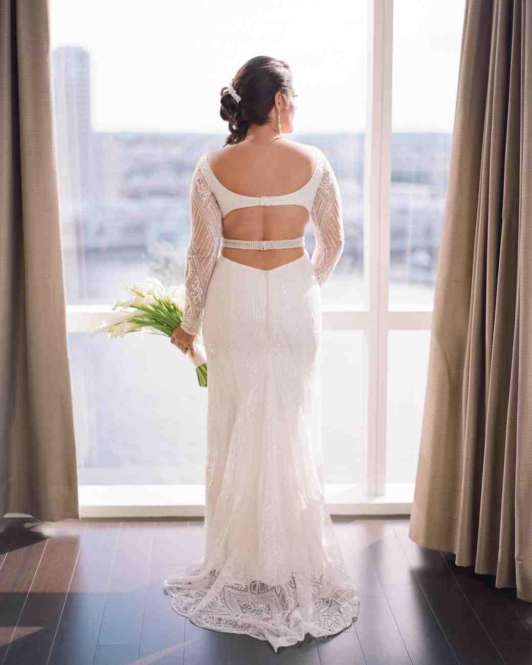 wedding dress open back
