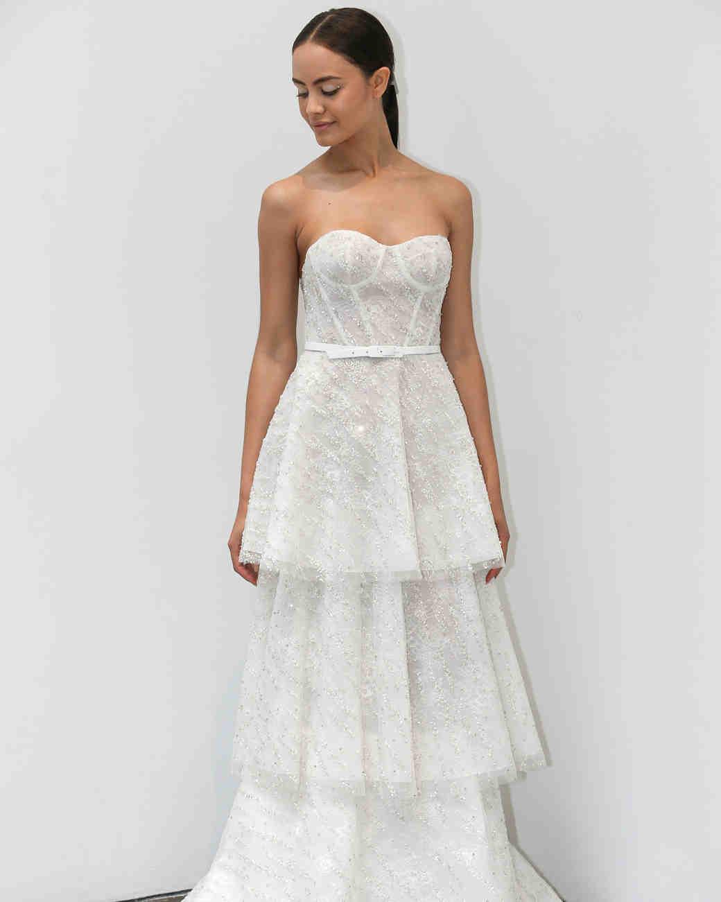 adbc210a0ece Lee Petra Grebenau Fall 2019 Wedding Dress Collection | Martha Stewart  Weddings