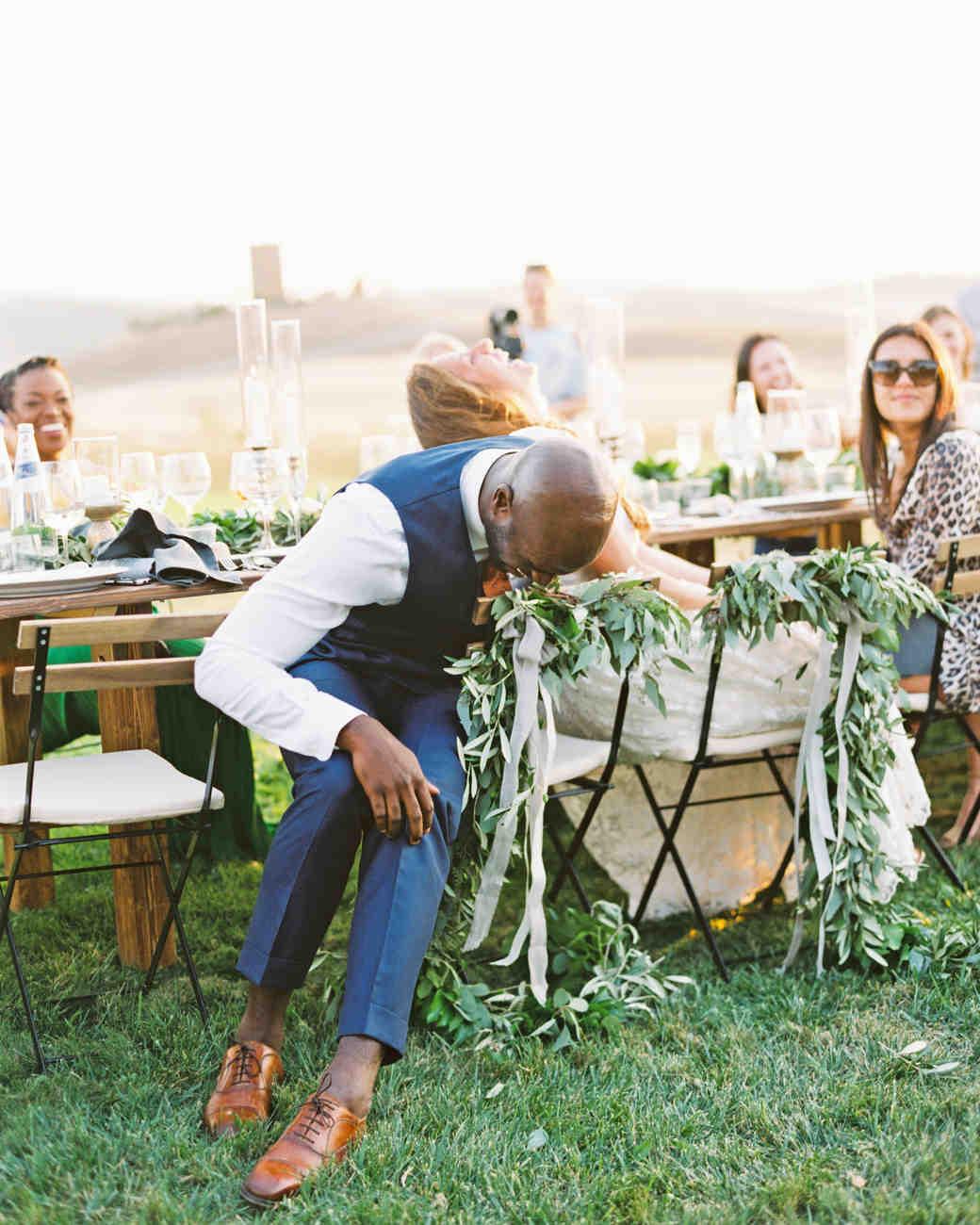 leila joel wedding toasts laughing