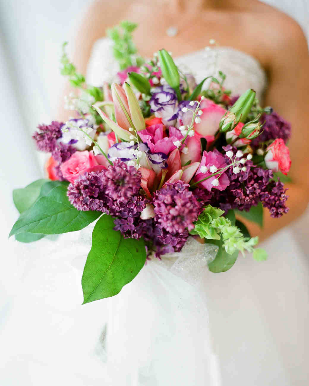 Purple wedding bouquets martha stewart weddings mightylinksfo