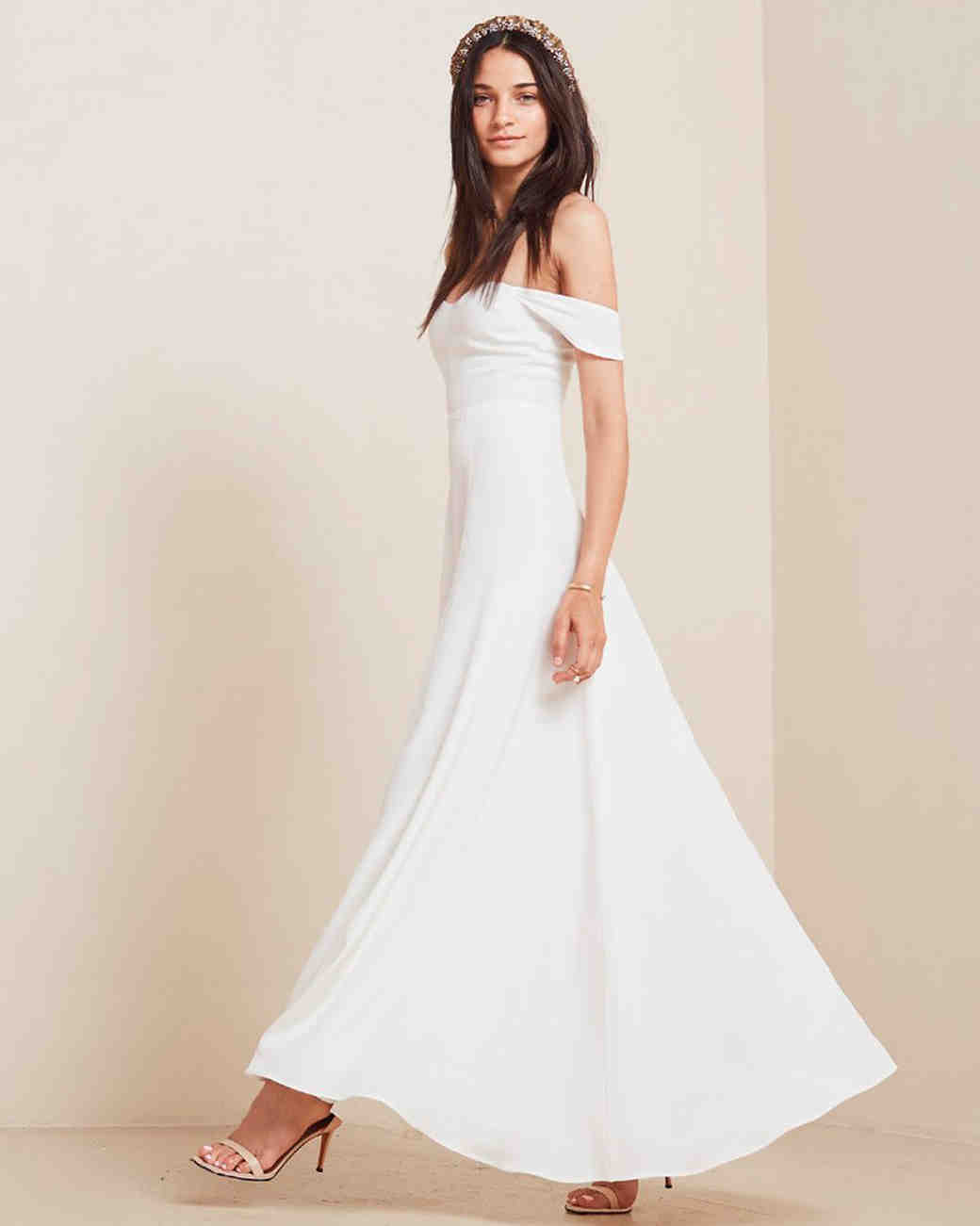 10 Chic Little White Dresses For Brides That You Can Right Now Martha Weddings