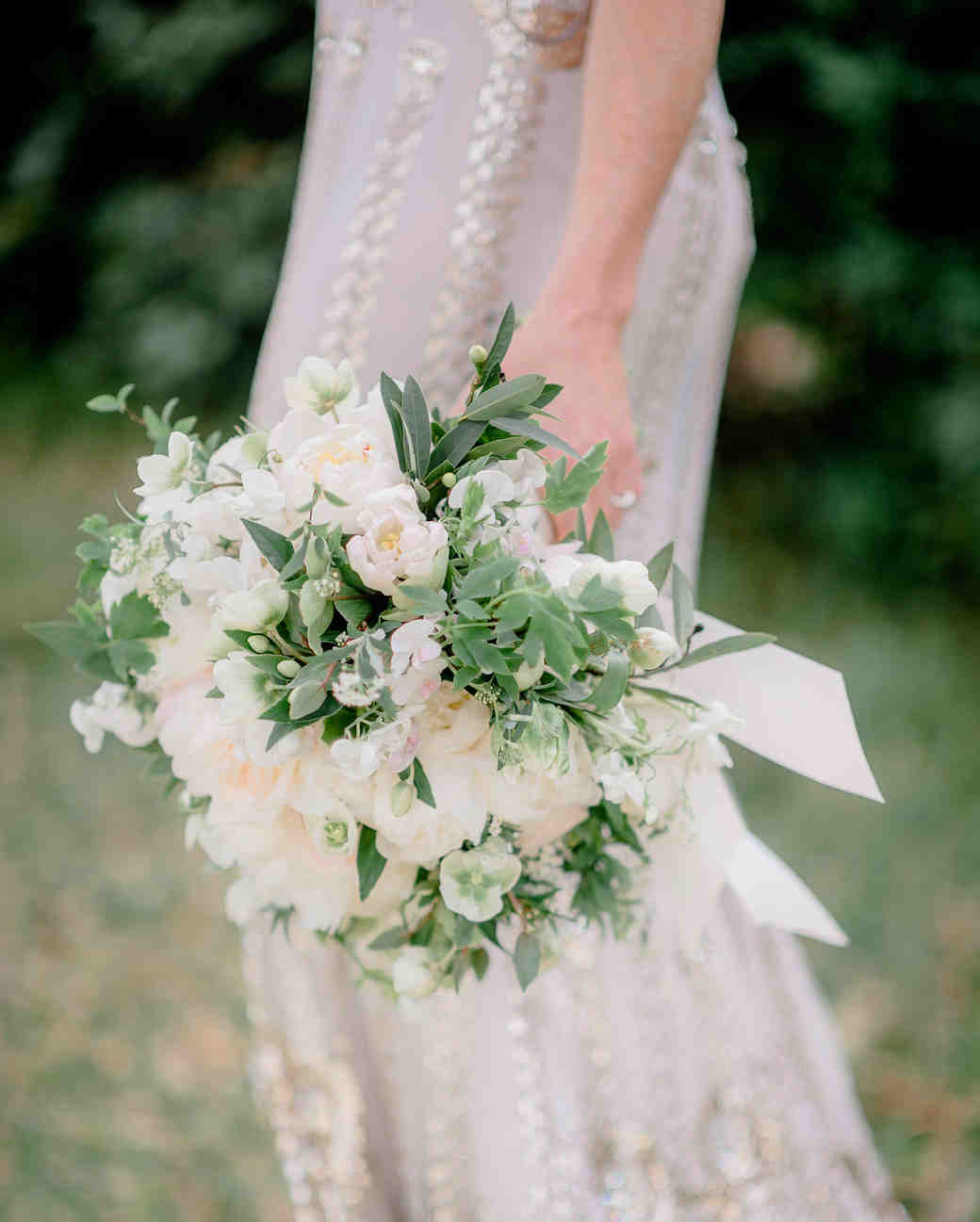 whimsical white bouquet