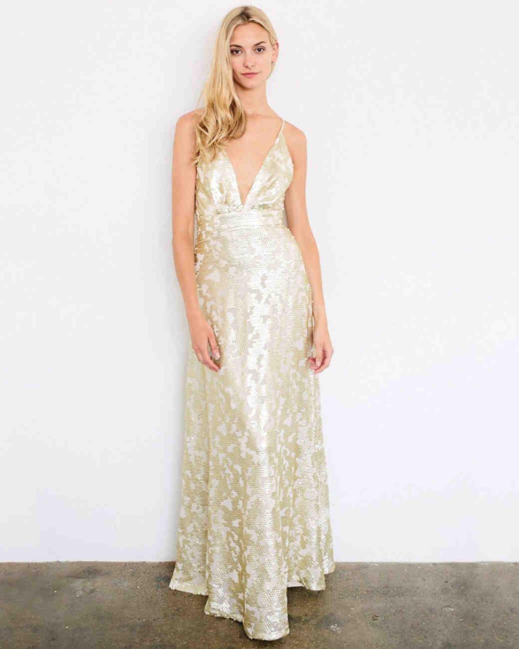 Pale Blue Striped Bridesmaid Dresses