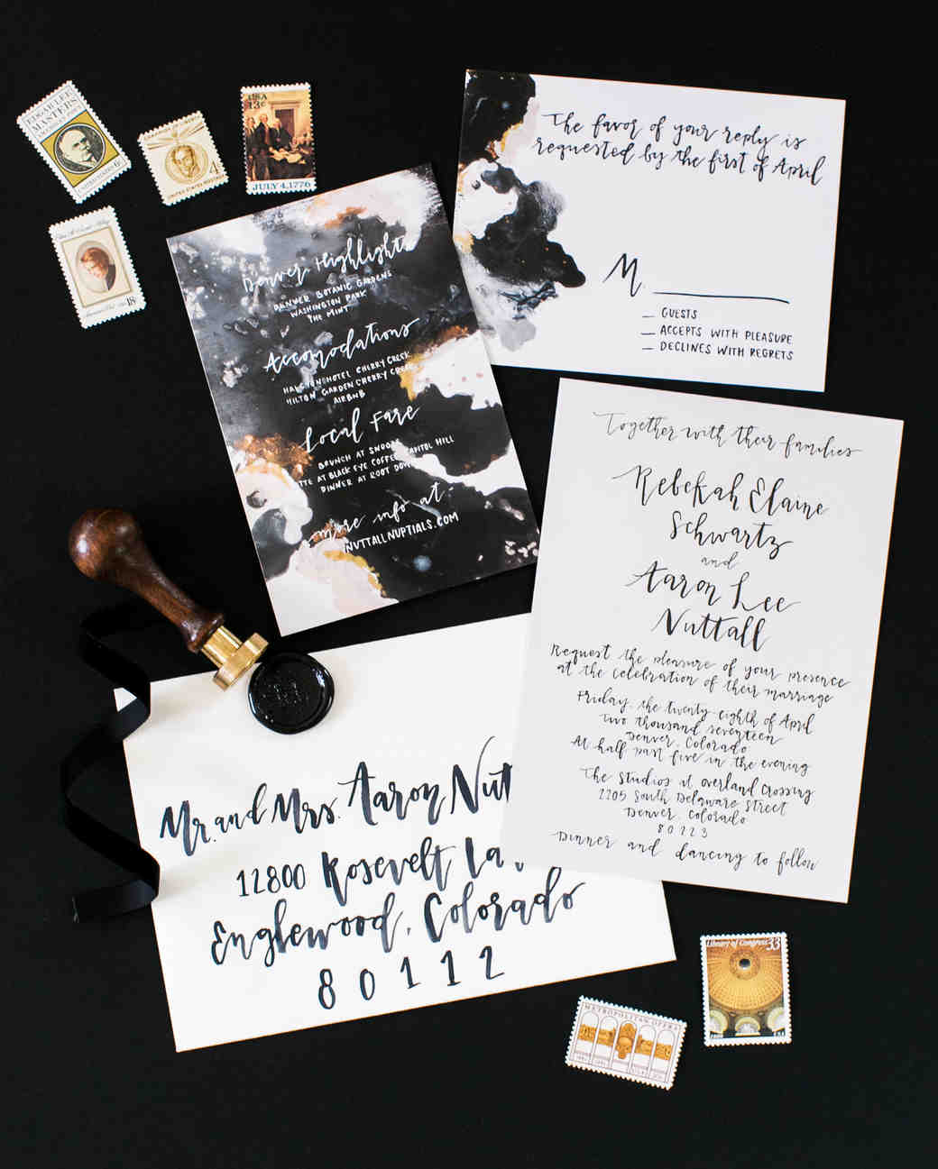 Modern Wedding Invite Wording: 30 Modern Wedding Invitations We Love