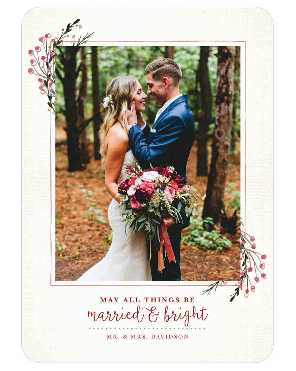 15 Newlyweds Who Are Crushing the Holiday Card Game   Martha ...