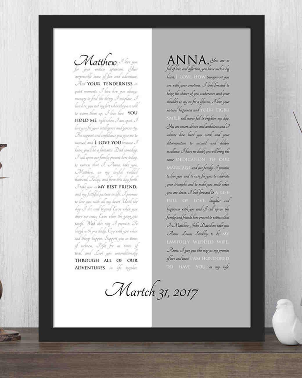sc 1 st  Martha Stewart Weddings & 1st Year Anniversary Gifts: Paper