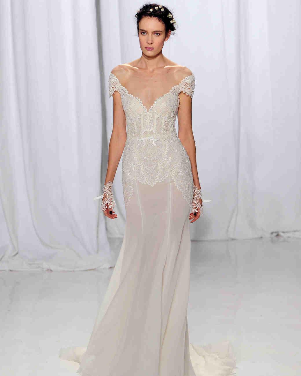 Reem Acra Fall 2017 Wedding Dress Collection | Martha Stewart Weddings