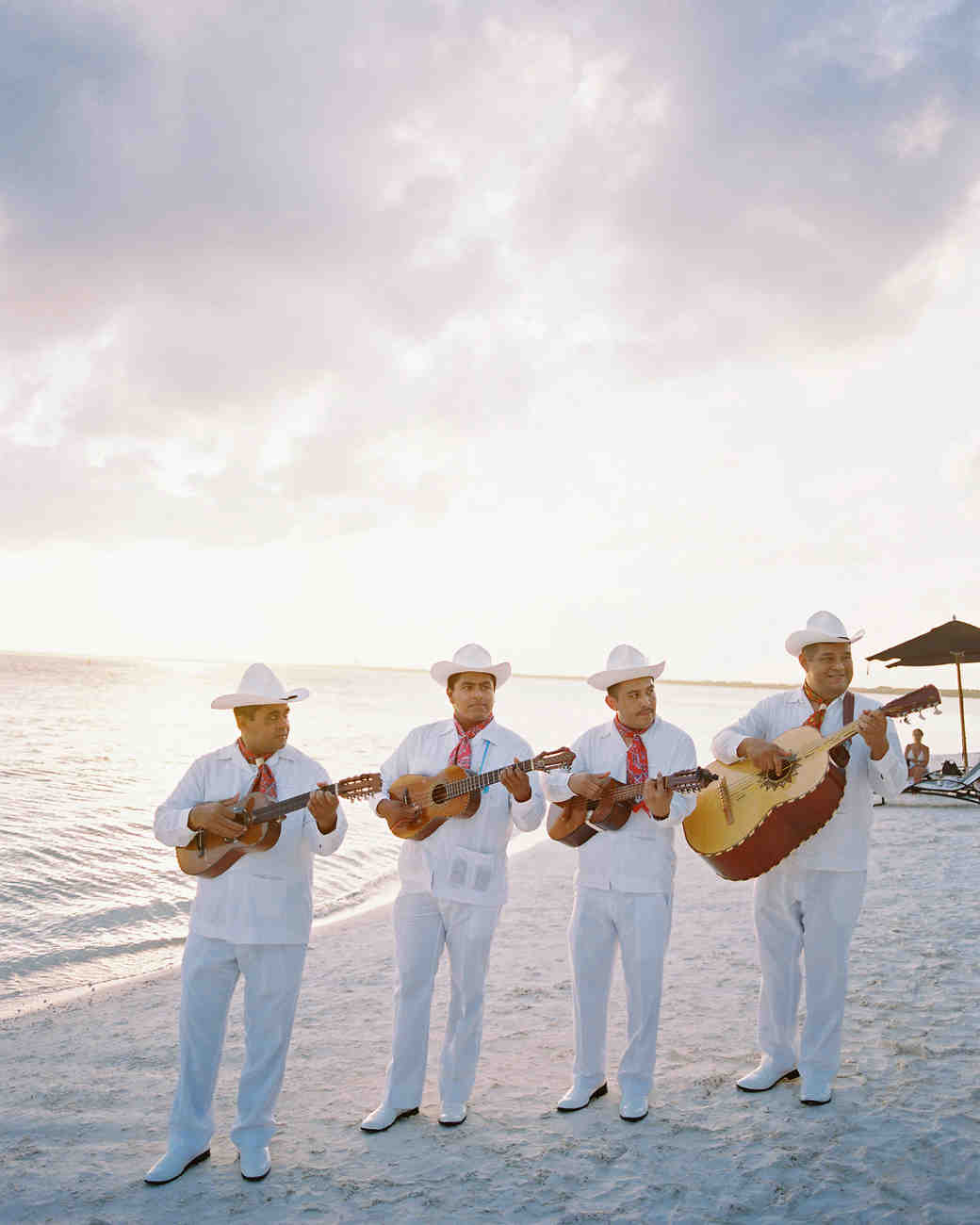 sara danny mexico wedding musicians on the beach