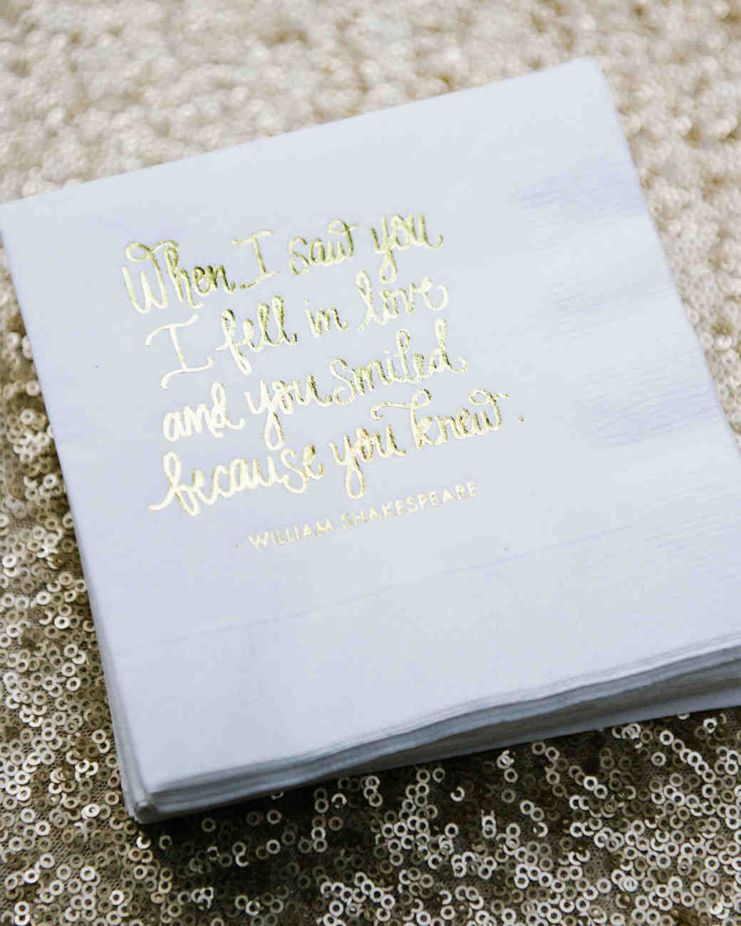 30 Cute Wedding Coasters & Napkins | Martha Stewart Weddings