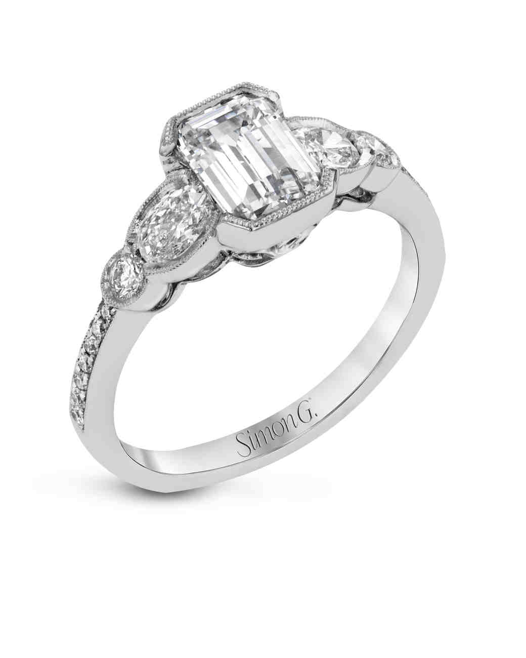 Simon G. Emerald-Cut Engagement Ring