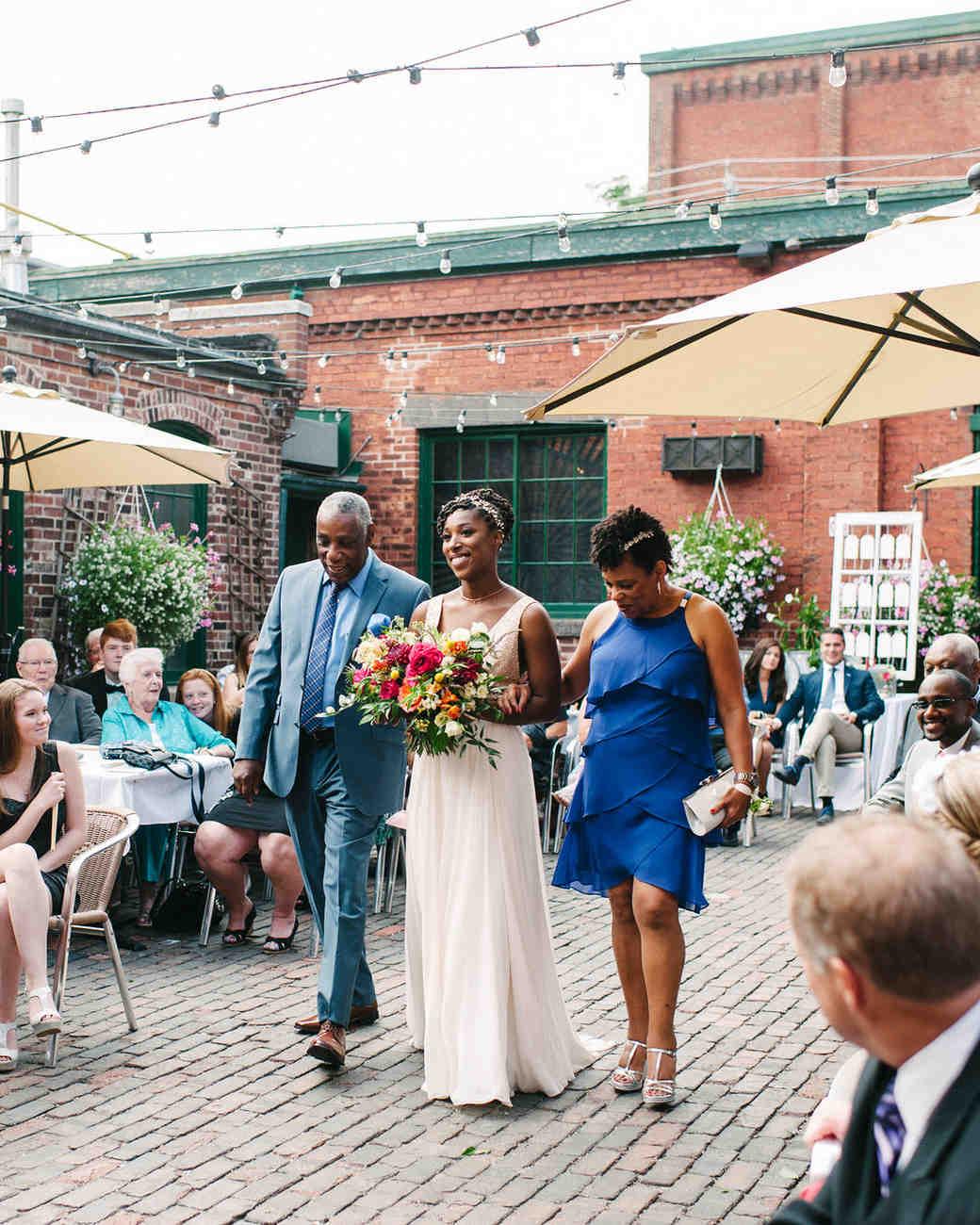 steph tim wedding ceremony processional