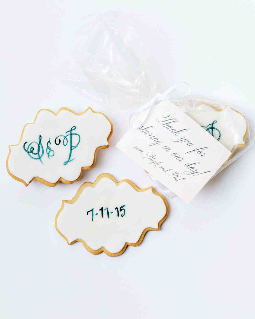 stephanie philip wedding cookies