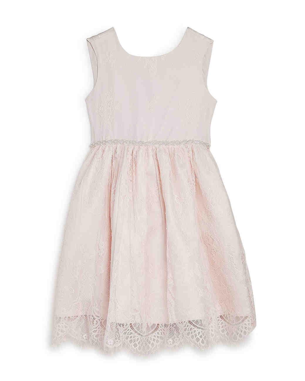 summer flower girl outfit light pink lace dress