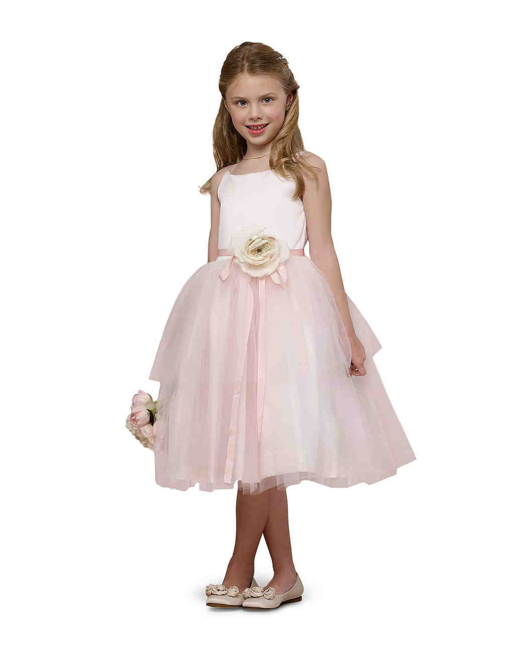 summer flower girl outfit pink ballerina dress with flower
