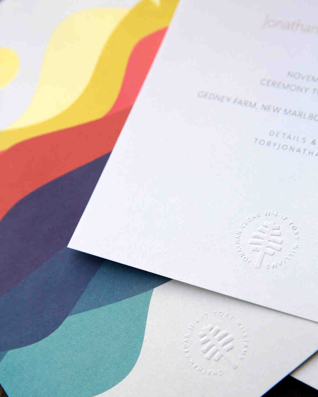 tory jonathan wedding invite