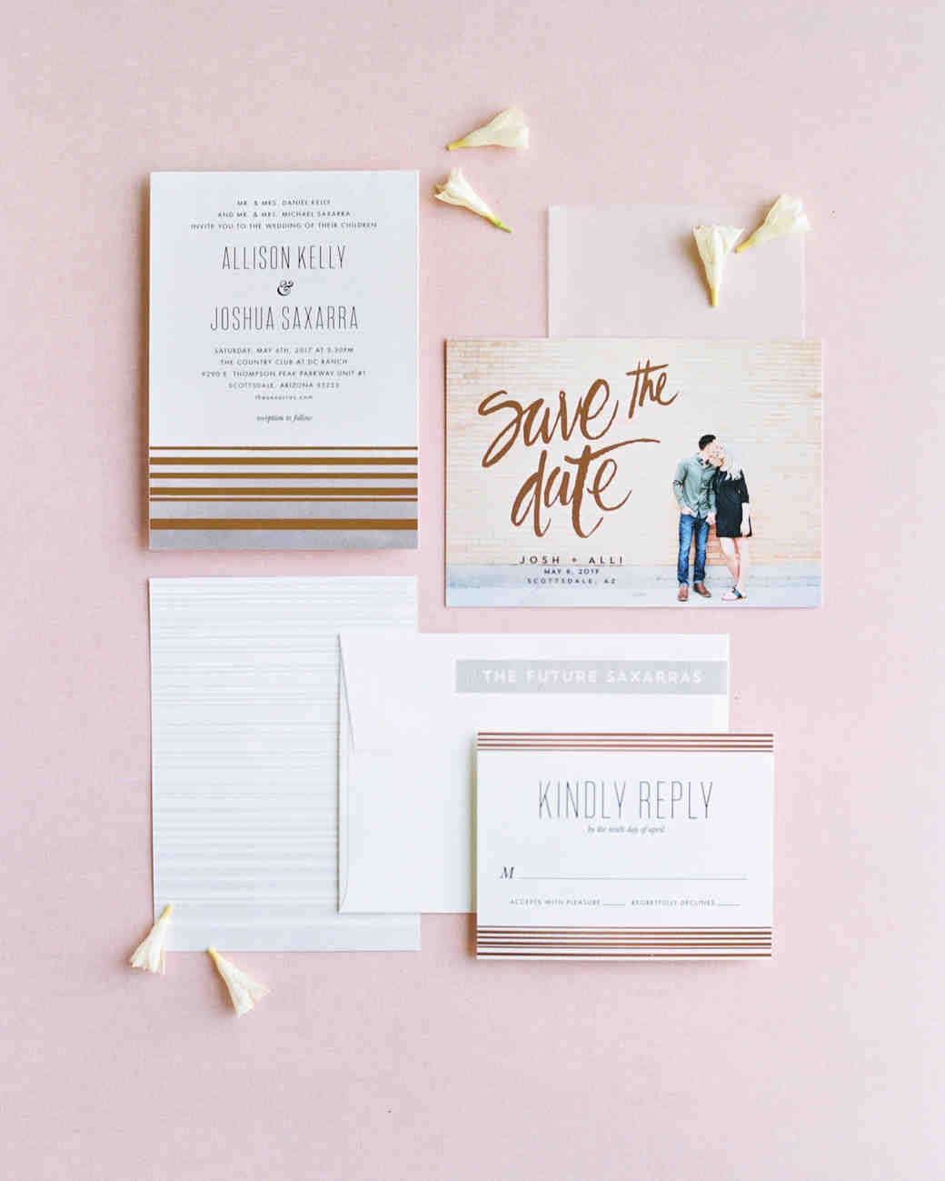 29 ideas for unique wedding invitations martha stewart weddings stopboris Gallery