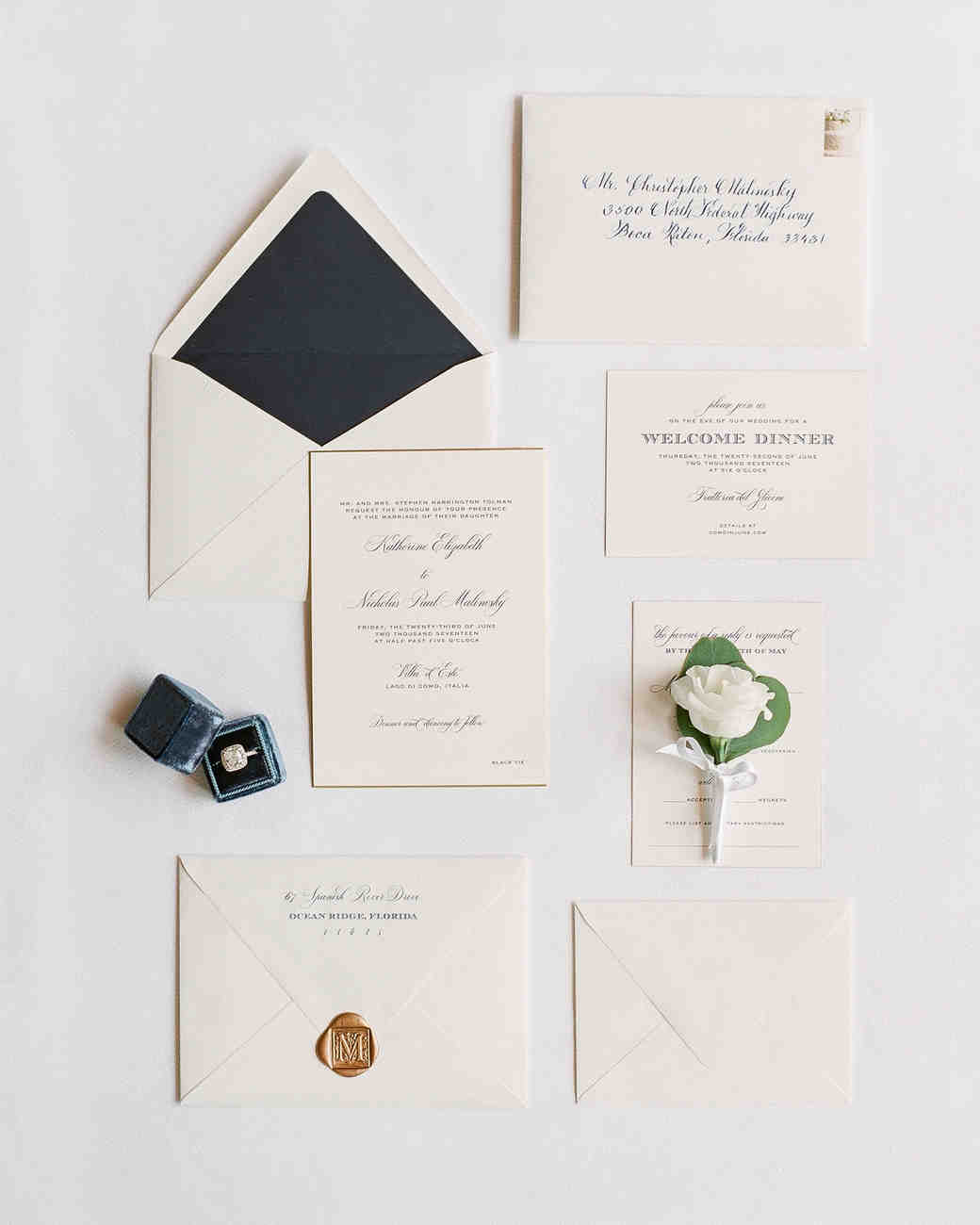 Gorgeous Wedding Invitations With Wax Seals Martha Stewart Weddings