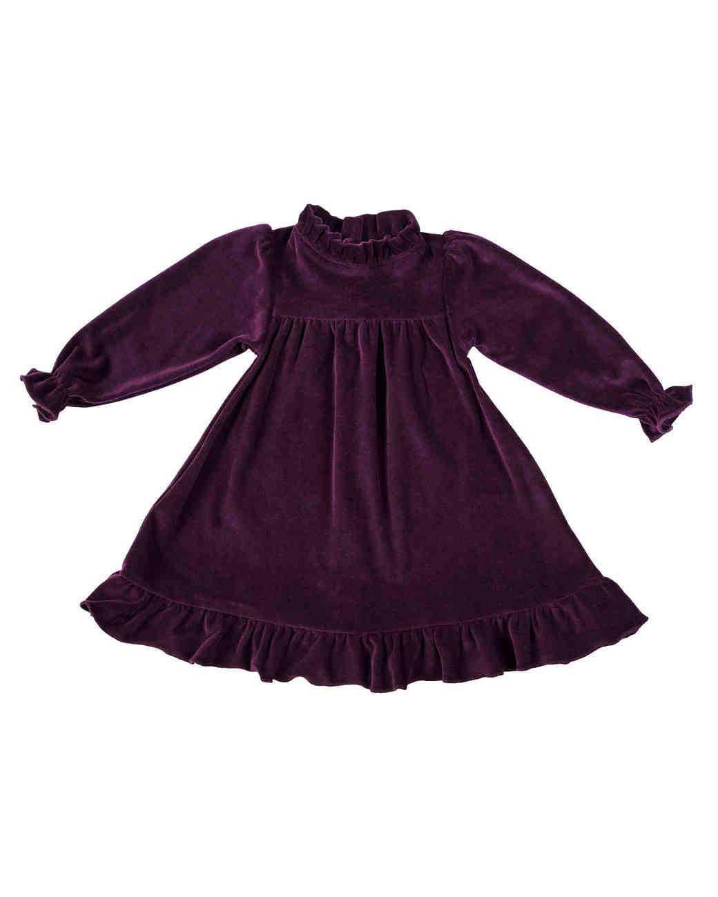 long sleeve velvet flower girl dress