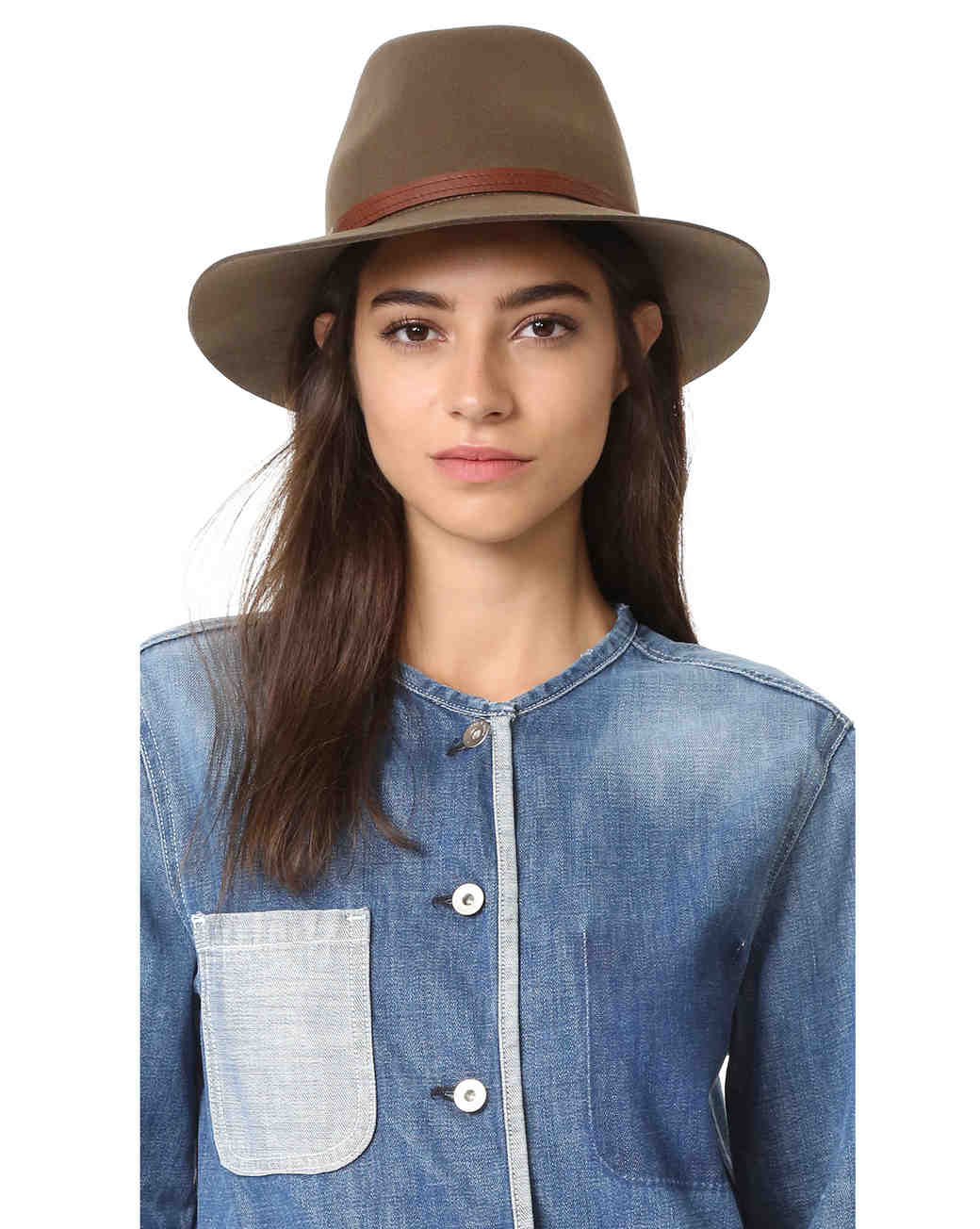 wool anniversary gift brown hat