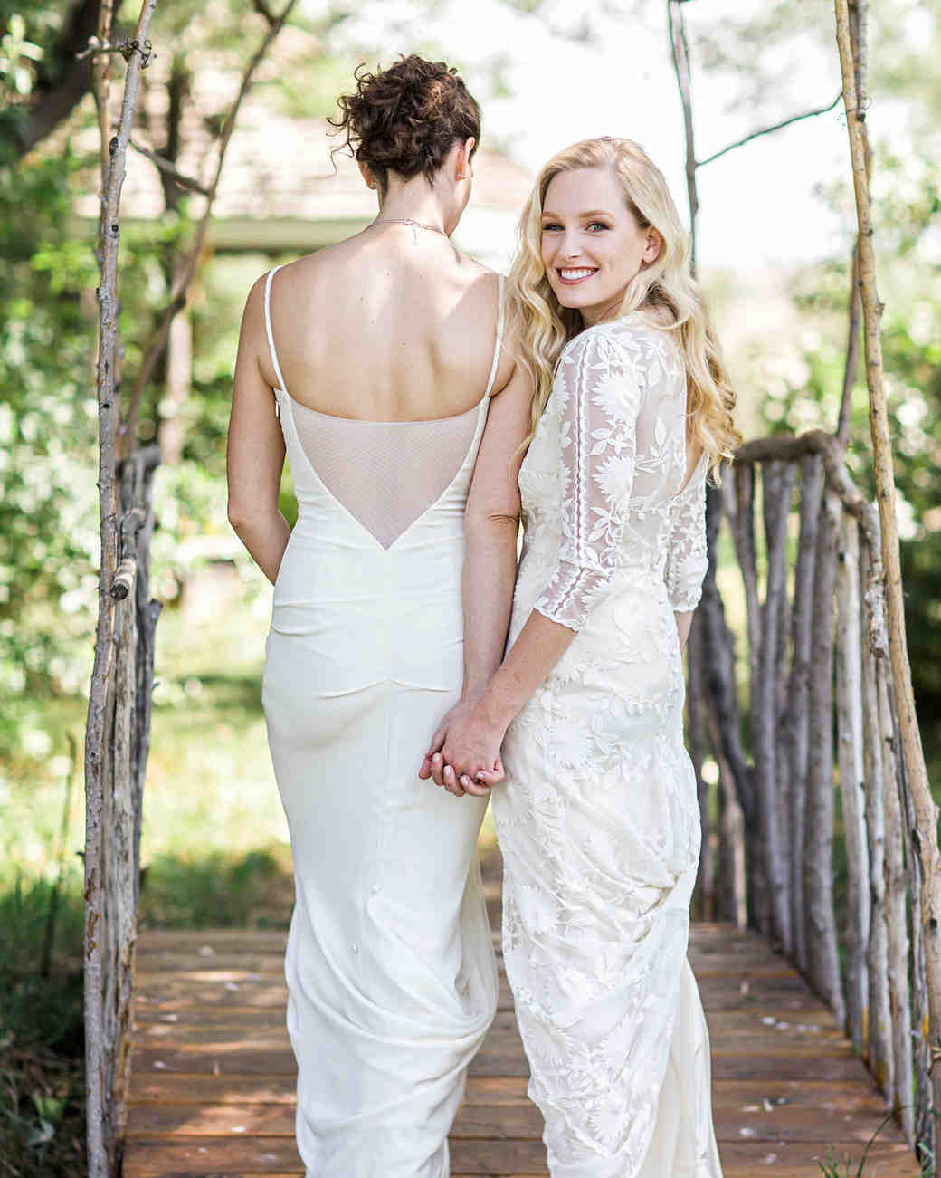 allison aimee wedding couple on bridge