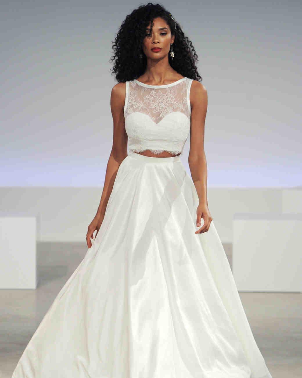 28 TwoPiece Wedding Dresses Martha Stewart Weddings
