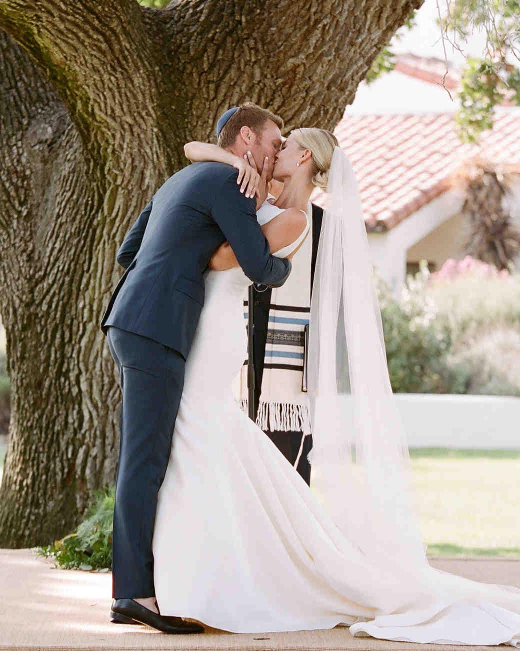 ashlie adam alpert wedding ceremony kiss