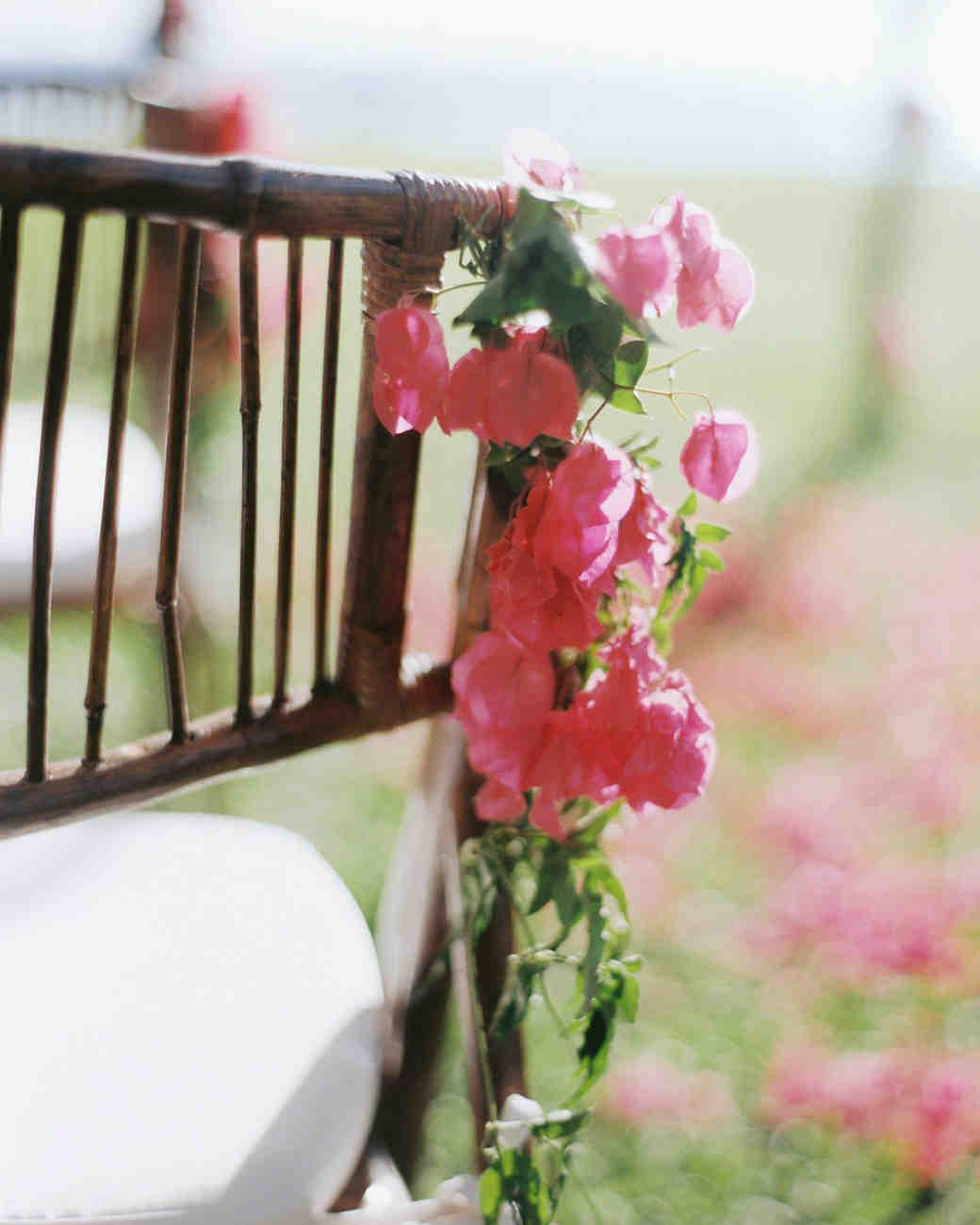 bougainvillea floral chair decor