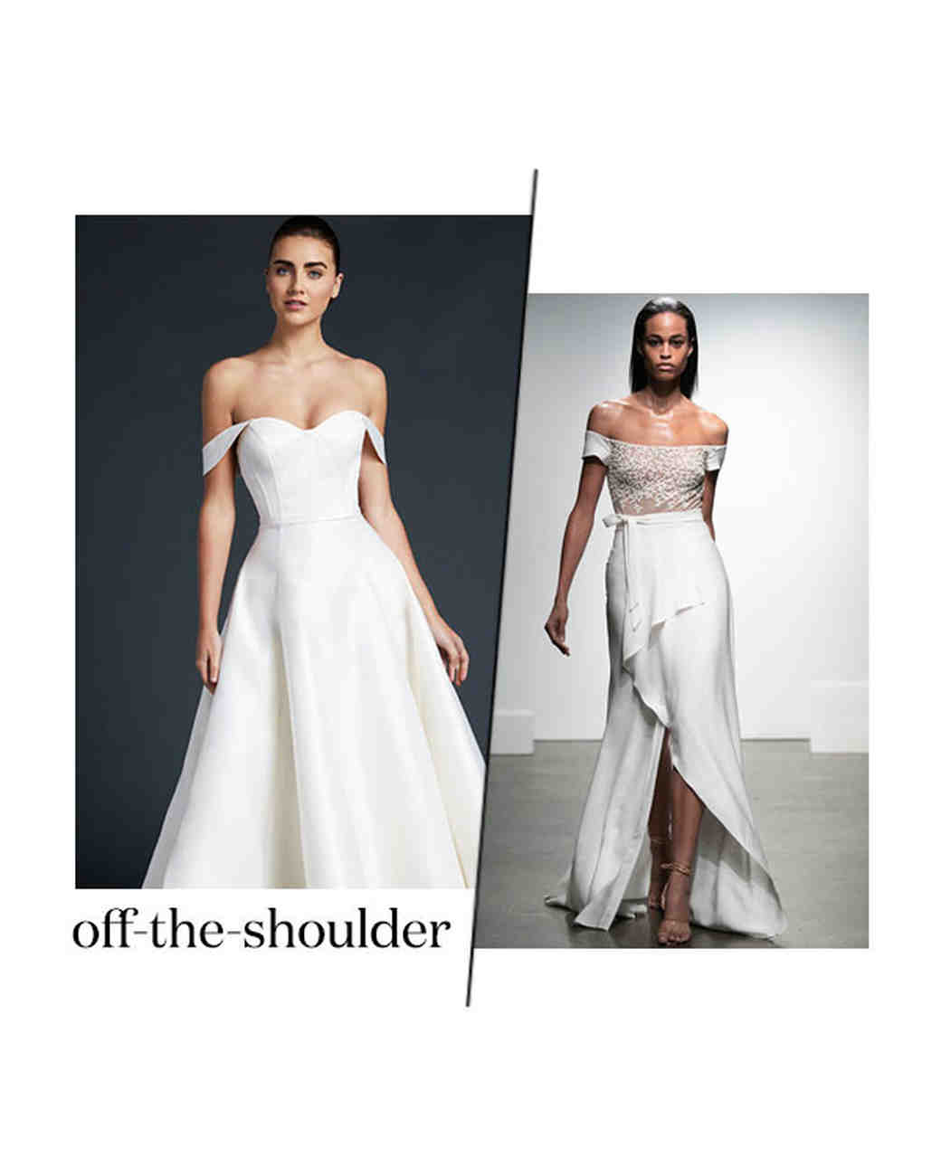 fall 2019 bridal fashion week trends off the shoulder