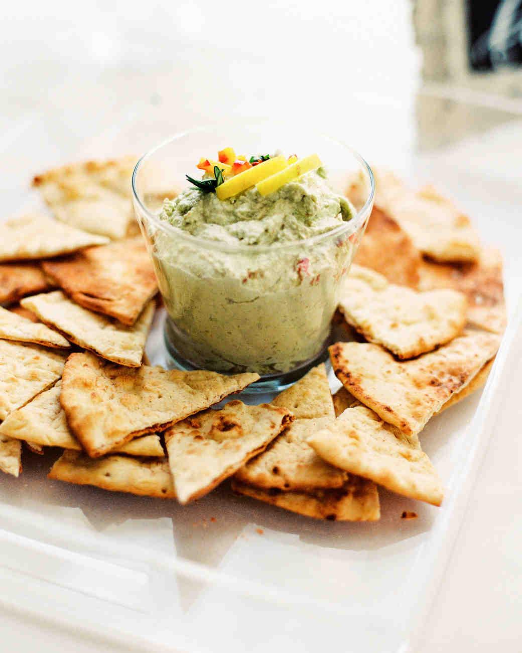 pita chips and dip