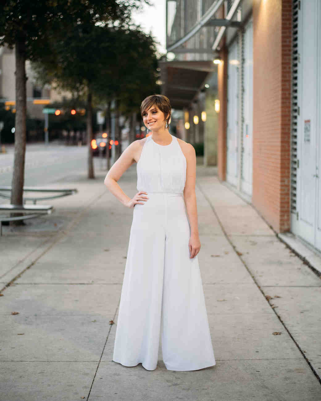 Real Brides Who Nailed The Bridal Jumpsuit Look Martha Stewart