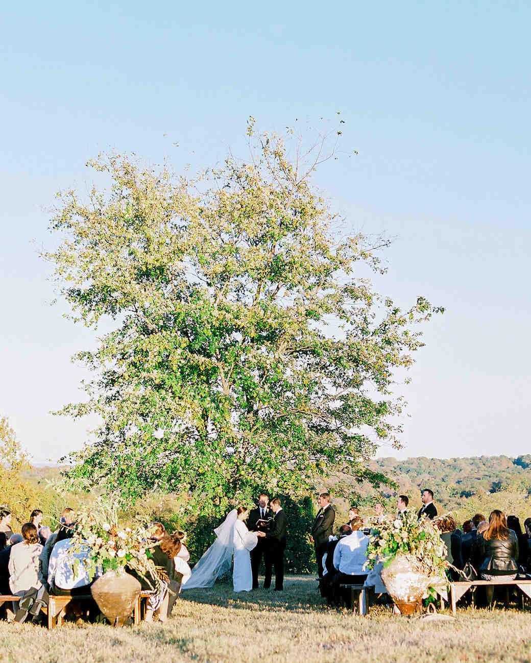 wedding ceremony crowd