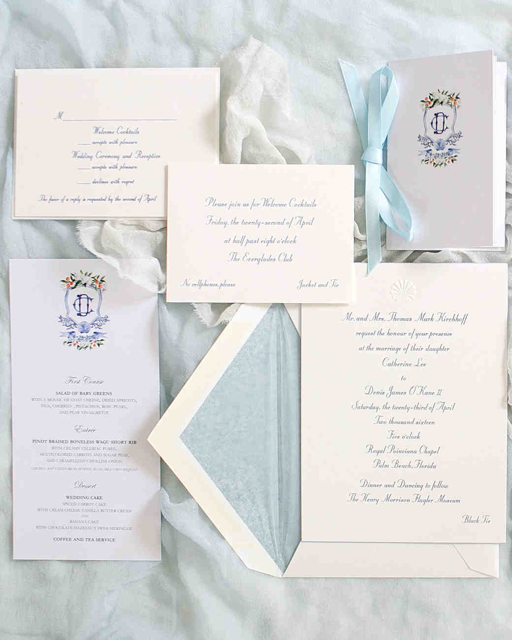 cat denis wedding stationery