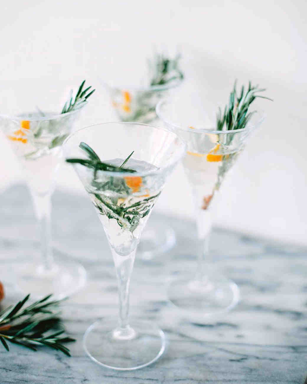 champagne cocktail rosemary
