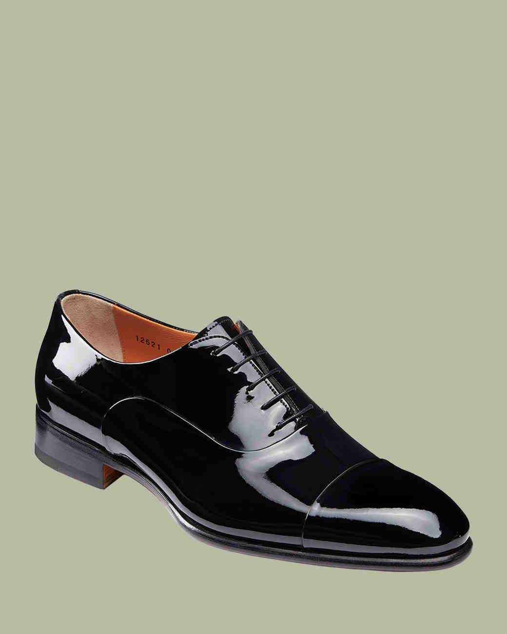 """Santoni """"Isaac"""" Patent Leather Lace-Up Shoes"""