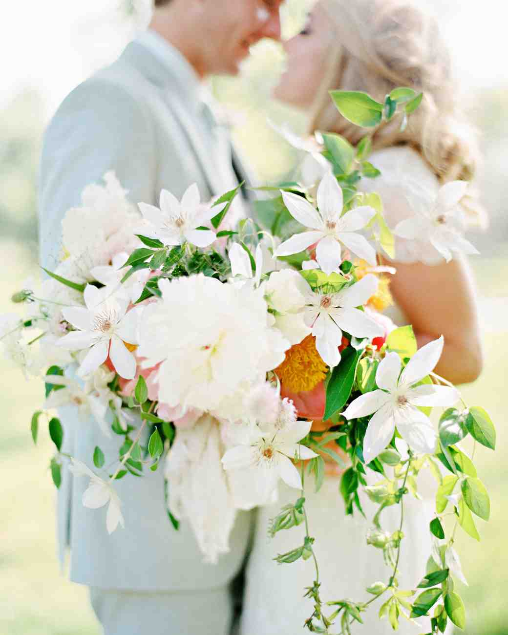 Asymmetrical Spring Wedding Bouquet