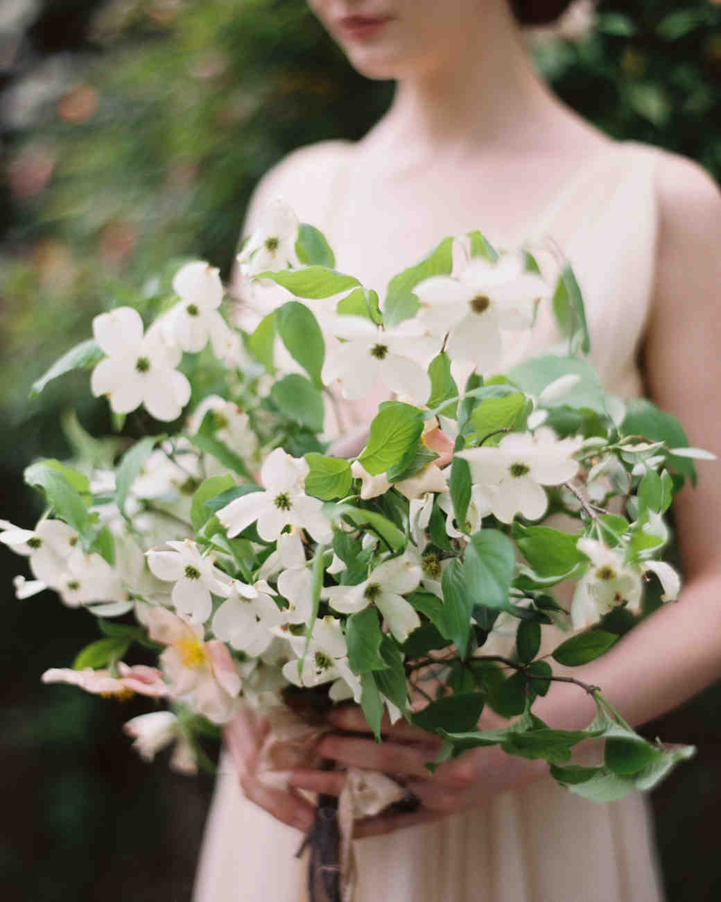 simple dogwood only bouquet