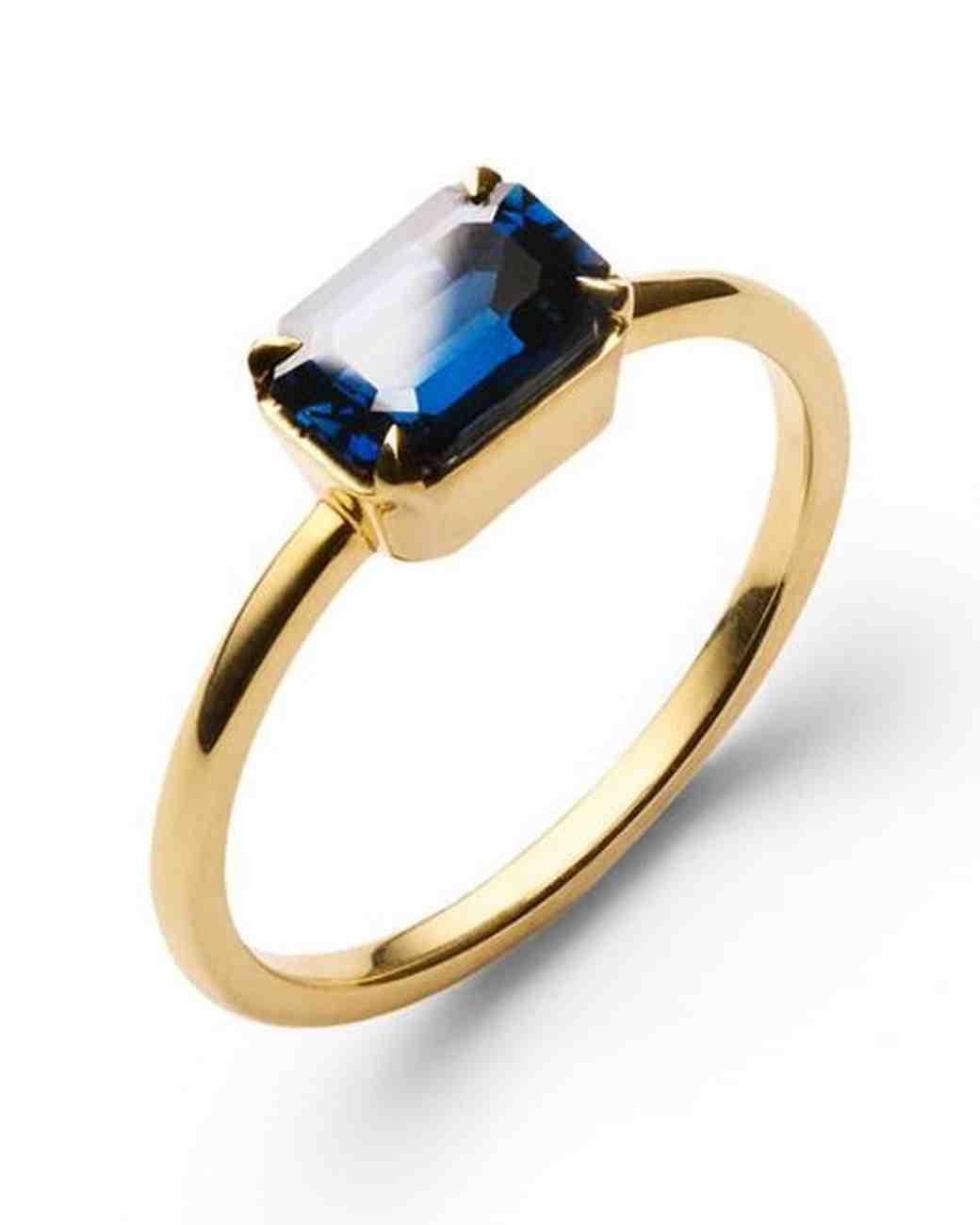east west engagement rings blue velvet