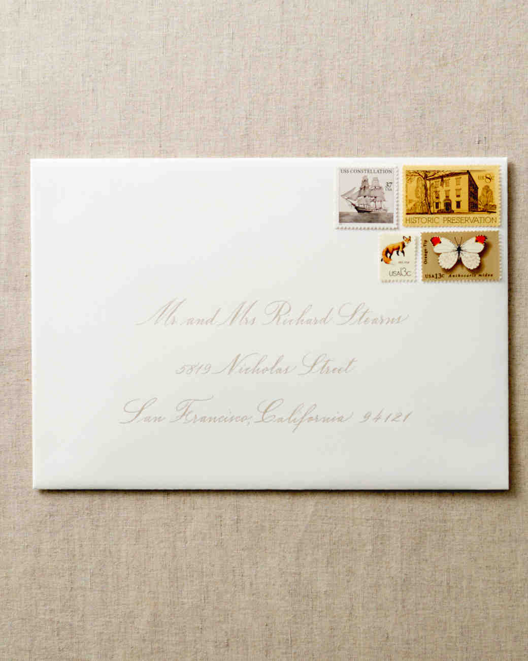 How to address guests on wedding invitation envelopes martha to a married couple stopboris Images