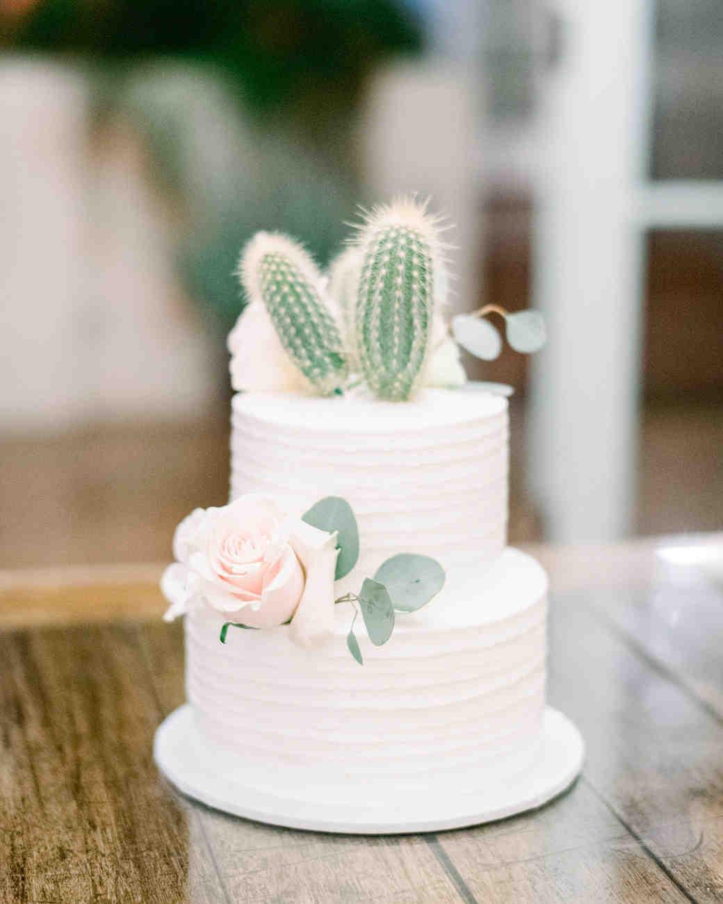 eucalyptus succulent cacti rose cake decor