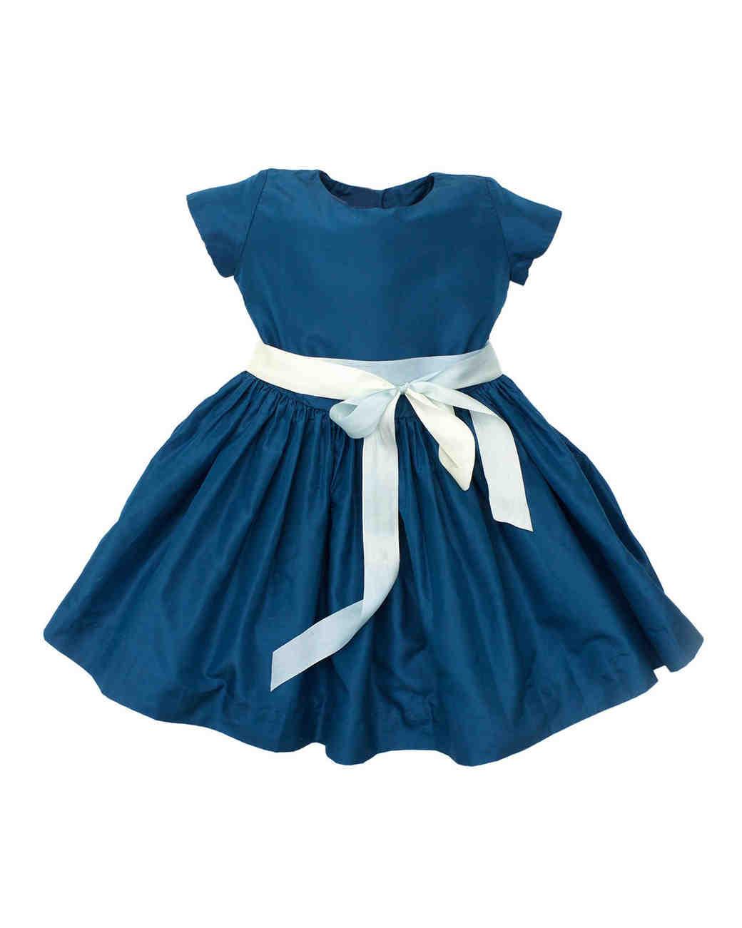 flower girl dress dark blue