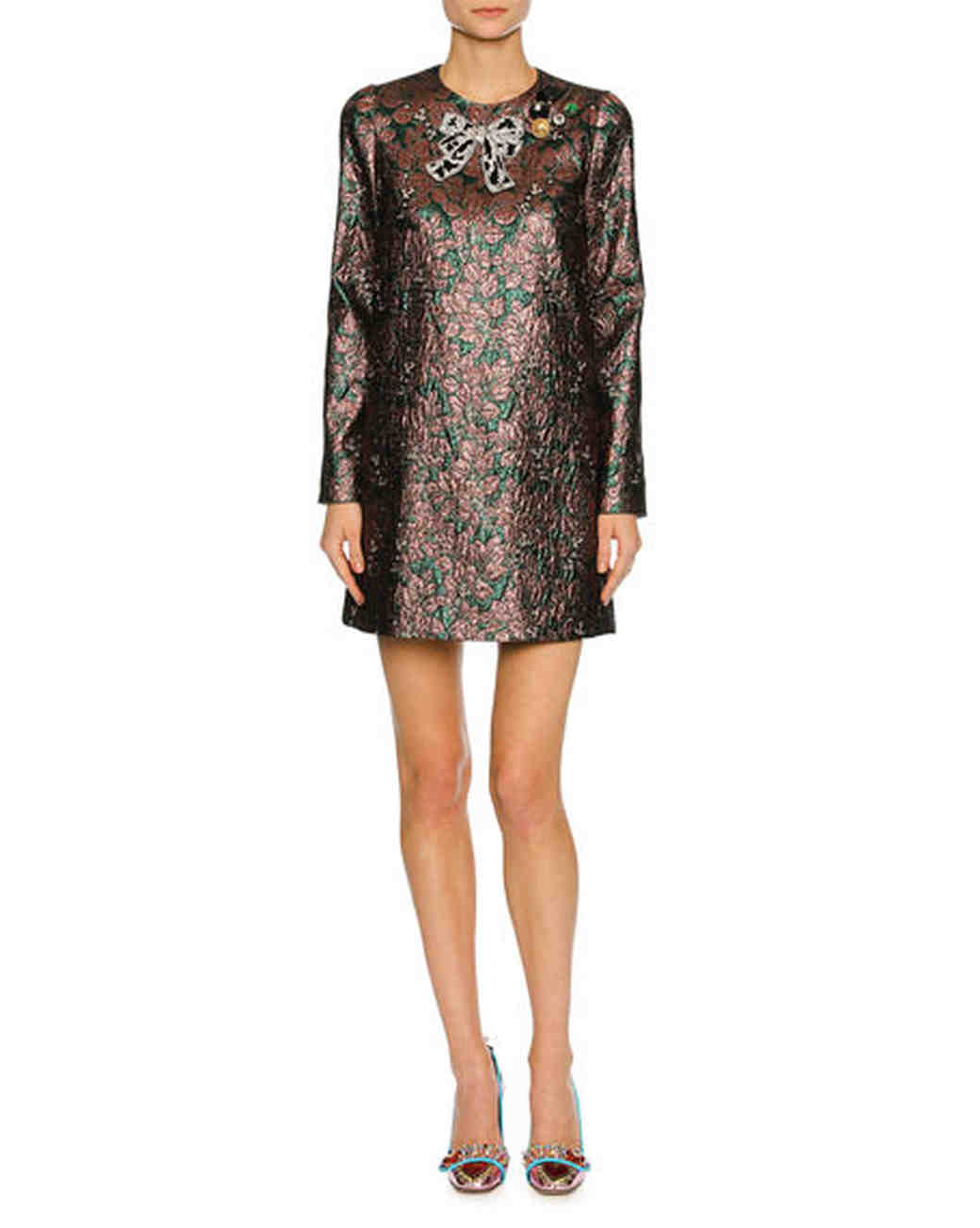 Long Sleeve Sequins Dress
